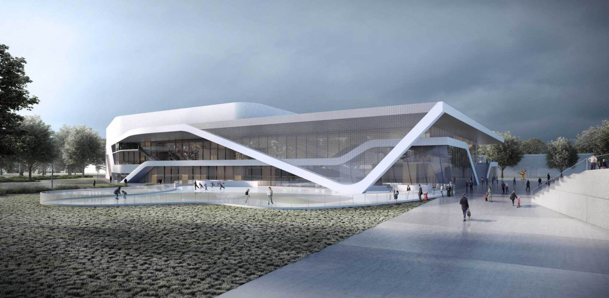 Future patinoire d 39 angers for Patinoir exterieur