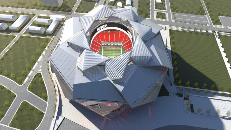 Mercedes benz stadium stades for Mercedes benz stadium falcon statue