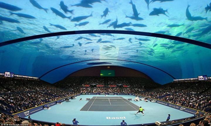 Court De Tennis Sous L Eau Pour Dubai Ostadium Com